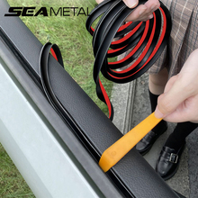 Car Window Seal Strip V Shape Car Side Window Sealing Strip Auto Rubber Side Window Filler Noise Insulation Weatherstrip Sealant