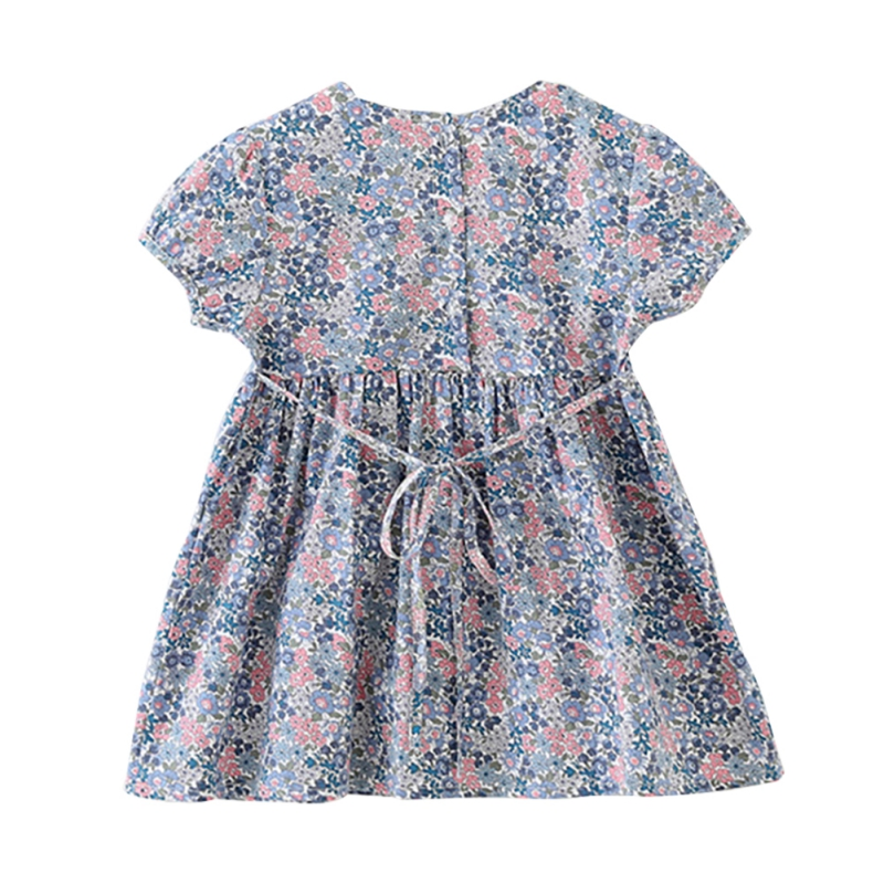 2020 Summer Hot Girls Summer Wild Floral Dress Princess Dress Small Flower Printed Dress For Kids