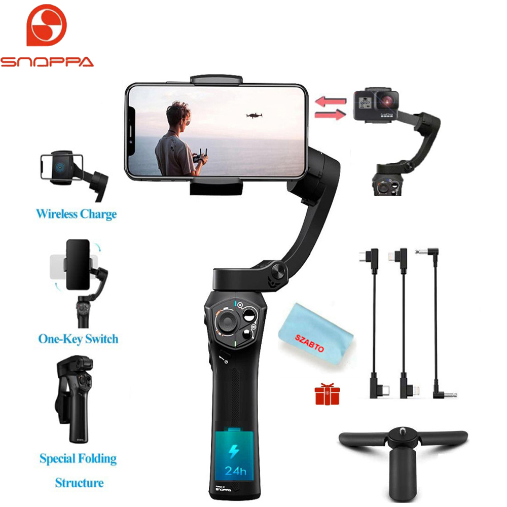 Snoppa Atom 3-Axis Foldable Pocket Sized Handheld Gimbal Stabilizer 310g Payload for GoPro Hero 4 5 6 Smartphone & Wireless Cha - ANKUX Tech Co., Ltd