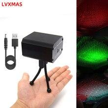 Mini usb luz de discoteca led laser luz dj palco projetor lâmpada festa de aniversário casamento dança bar efeito de palco efeito de natal mostrar