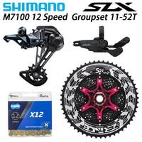 Shimano deore slx m7100 groupset mtb mountain bike 1x12 speed 52 t sl + rd + zrace + kmc x12 m7100 shifter desviador traseiro|Desviador de bicicleta| |  -