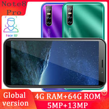 Note8 pro smartphones quad core 4G RAM 64G ROM 13MP HD camera face ID unlocked cellphones China mobile phones gps play store cheap BYLYND Detachable 64GB Android Face Recognition Up To 48 Hours 3200 Adaptive Fast Charge Smart Phones Bluetooth 5 0 Capacitive Screen
