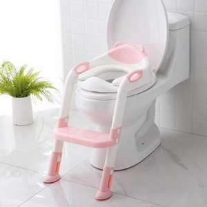 Urinal with Adjustable Ladder Training-Seat Potty Folding Baby Child