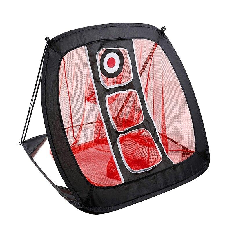 NEW-Nylon Golf Practice Net Golf Cutter Net Portable Golf Practice Net Red+Black
