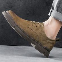 High Quality Mens Shoes Suede Handmade Brand Outdoor Shoes Platform Jeans Boots Spring Autumn Shoes For Men Travel Non-Slip Shoe