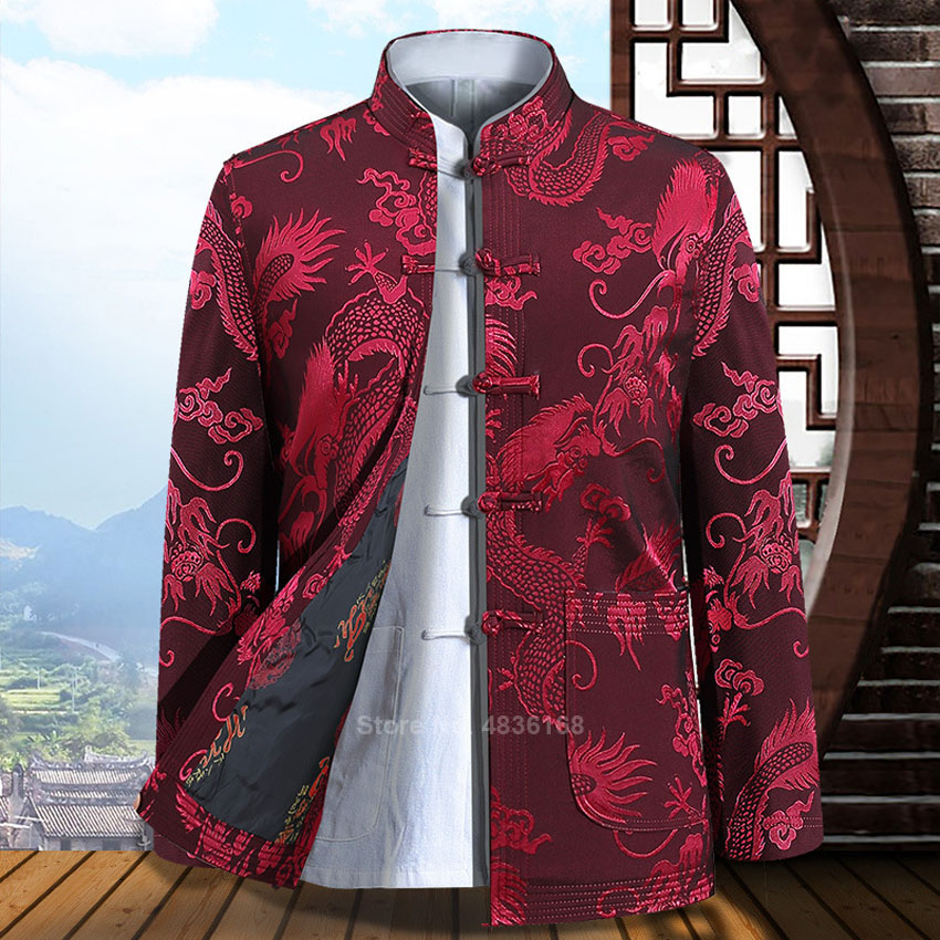 Tang Suit Traditional Chinese Clothing For Men Full Sleeve 2020 News Kung Fu Clothing New Year Clothes Vintage Party Male Jacket