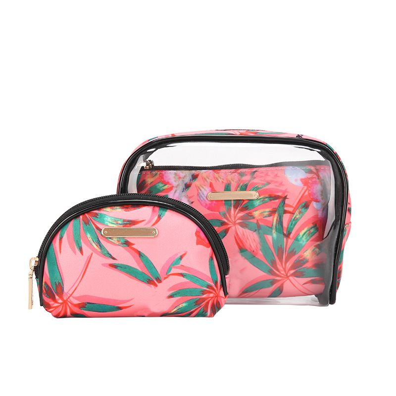 2019 New Transparent Cosmetic Bag Travel Toiletry Bag Set Make-up Organizer Pouch Makeup Case Beautician Necessaire Trip 3pcs