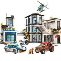 New 10660 936Pcs City Police Station Building Block Bricks With Christmas Gifts Toy
