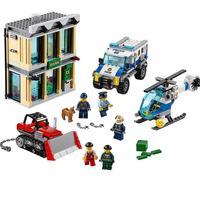 10659 Bulldozer Break in Legoinglys City Police 60140 Building Blocks Bricks Model toys for Childrens kid gift 591Pcs