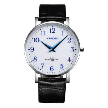 2020 New Brand Fashion Business Men's Watch Leather Strap Simple Waterproof Quartz Men's Watch Relogio Masculino Erkek Kol Saati