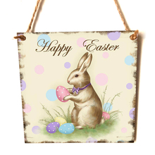 Easter Mural Creative Wooden Wall Plaque Hanging Board Decoration For Home Garden Store Wall Door Festival Decal Room Decoration
