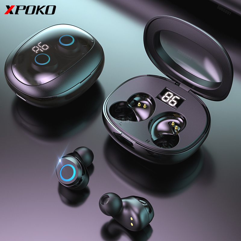 Wireless Bluetooth Earphone With Microphone Touch Control Bluetooth Headphone Noise Cancelling Handsfree Call Wireless Headsets