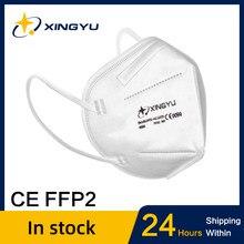 FFP2 máscara protección antipolvo máscara filtro facial 5-capa boca máscaras cubierta reutilizable polvo Maske transpirable FFP2mask kn95 máscara tapabocas