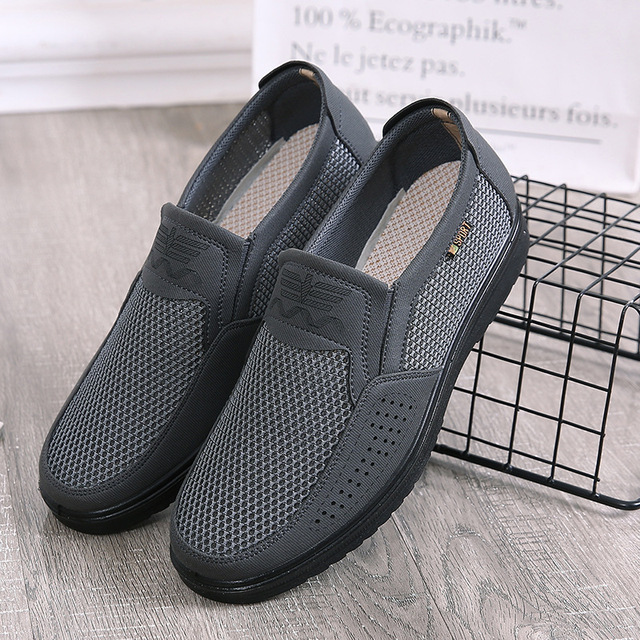 Men Summer Style Mesh Flats For Men Loafer Creepers Casual High-End Shoes Very Comfortable Dad Shoes