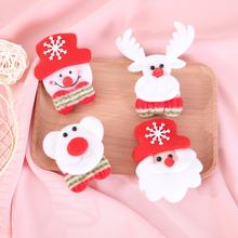 Christmas Brooch Pins Christmas Decor Gift for Kids Girls Fashion Cloth Brooch with Light Christmas Supplies(China)
