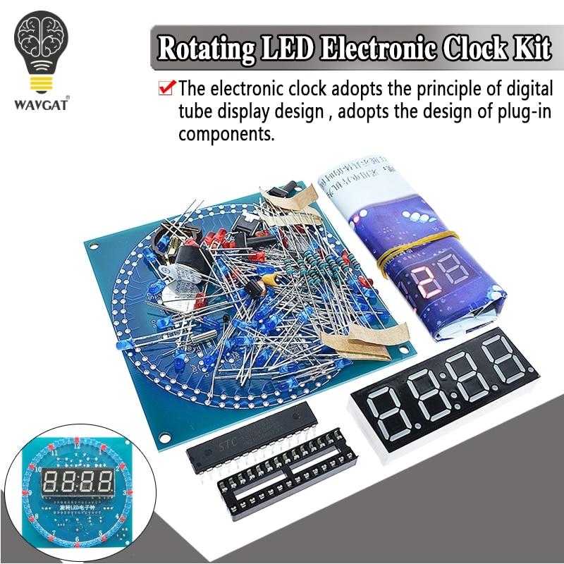 DS1302 Rotating LED Display Alarm Electronic Clock Module DIY KIT LED Temperature Display