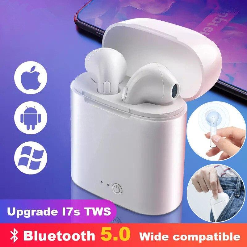 Auriculares Bluetooth 5,0 i7s TWS auriculares estéreo auriculares Bluetooth para iPhone Samsung Xiaomi con auriculares inalámbricos Anytek B30 WIFI timbre B30 IP65 impermeable video inteligente timbre de puerta 720P inalámbrico abeto alarma IR de visión nocturna IP la cámara