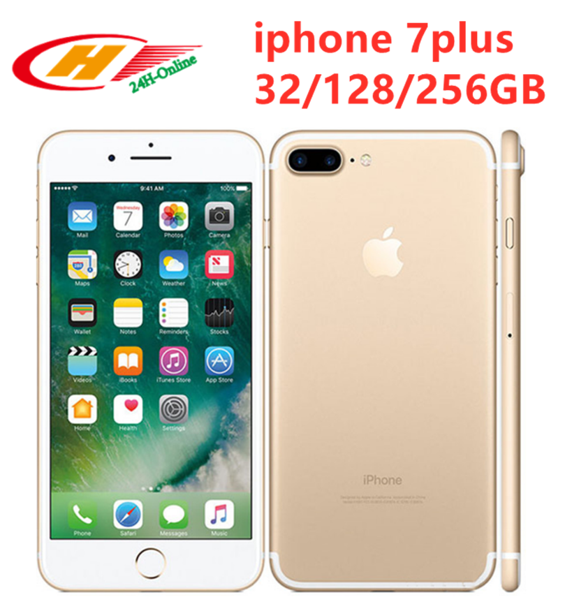 "Apple Iphone 7 Plus Jet 12MP 4G LTE 5.5 ""Quad Core A10 3G Ram 32/128G/256 ROM NFC Ponsel"