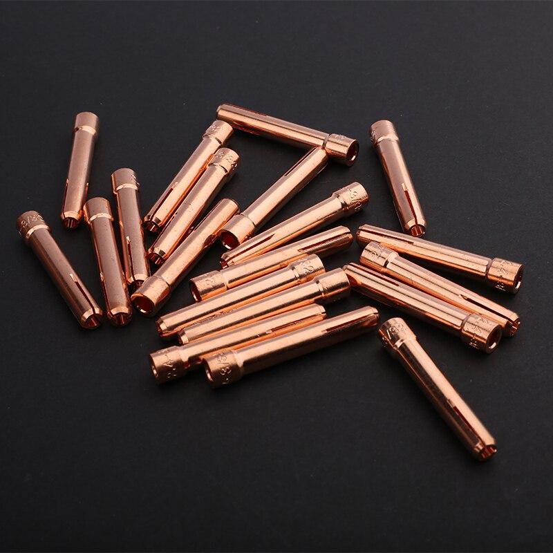 Wig-schweißen zubehör E-cu collet für WP 17 WP18 WP26 tig wolfram elektrode collet für argon schweißen fackel