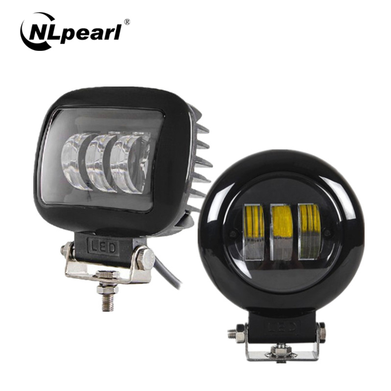 Nlpearl 2x 30W Square/Round LED Fog Lights For Cars Fog Lamp Waterproof LED Work Light For Truck 4x4 SUV 4WD Car Light Assembly
