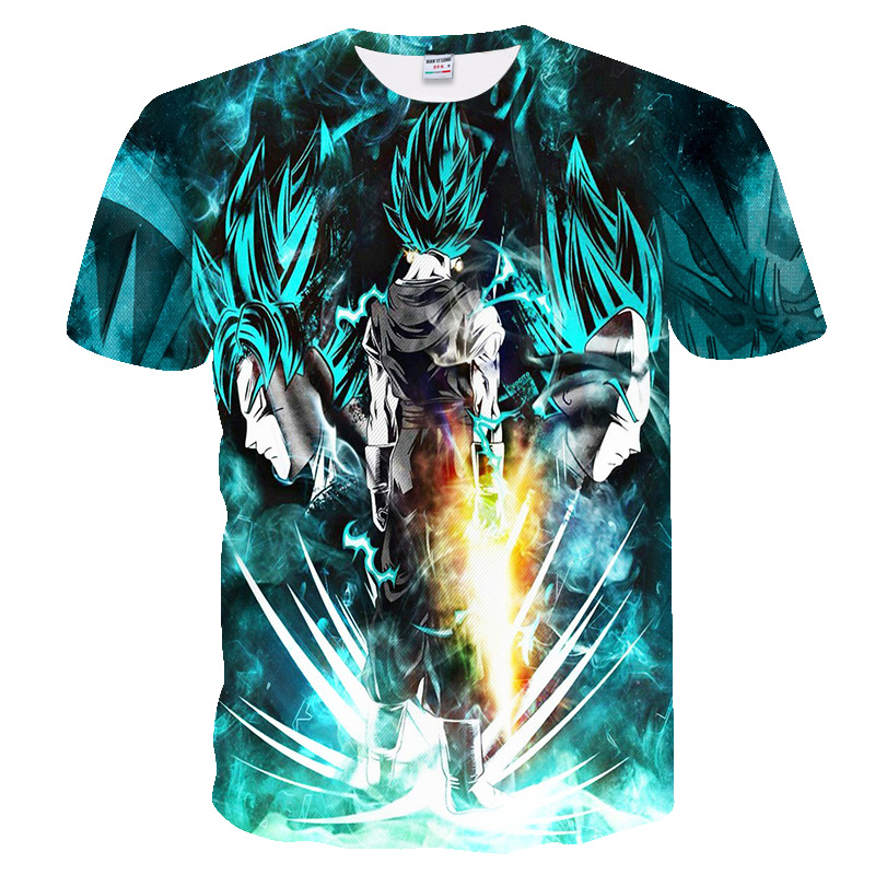 Fashion and cool 3D printed Dragon Ball short sleeved T shirt Hot style Hip Hop tops summer new style cool T shirt in T Shirts from Men 39 s Clothing