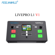 Feelworld Livepro L1 V1 Multi-format Video Mixer Switcher 4 X Hdmi-ingangen Multi Camera Productie USB3.0 Live Streaming