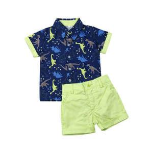 T-Shirt Shorts Dinosaur Outfits-Set Pants Gentleman-Suit Baby-Boy 0-5-Years Top Newborn