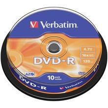 Диск DVD-R 4.7Gb Verbatim 16x Cake Box (10шт)