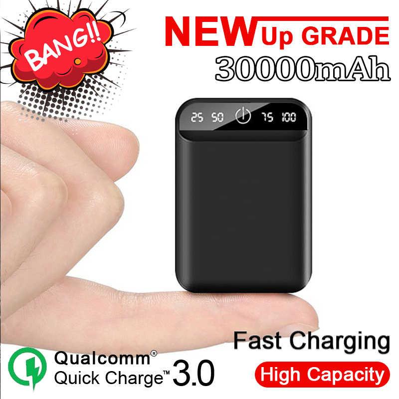 30000 Mah Mobile Power Dual USB Output Charger Portabel Mobile Power Mini Pengisian Mobile Power Perjalanan Kemasan Baterai Eksternal