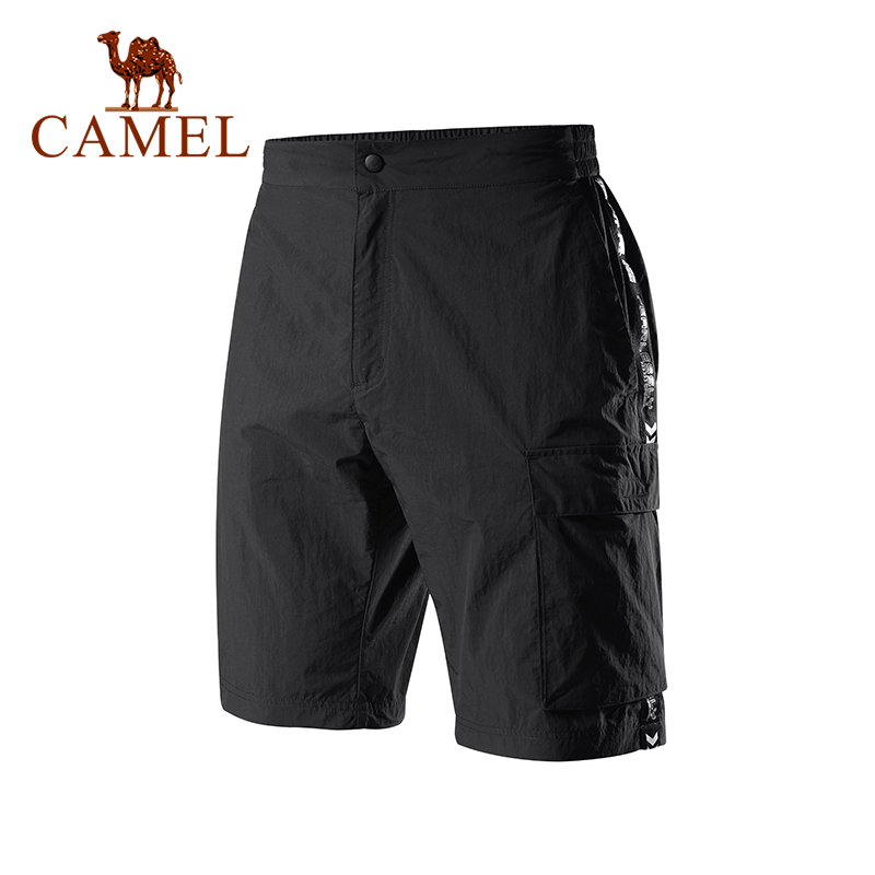 Camel Outdoor Breathable Quick Drying Short  Comfortable Breathable Men's Sport  Solid Color Shorts Male Jogging Hiking Running