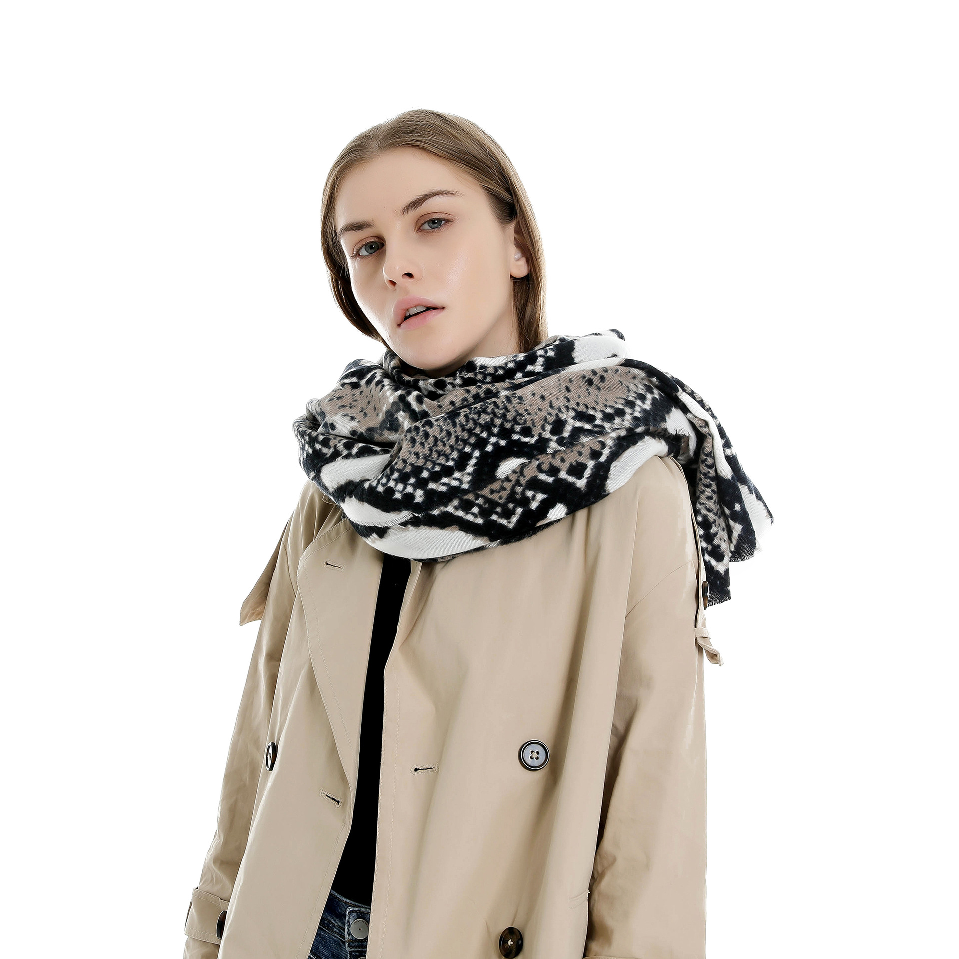 Winter Scarves Women Sexy Printed python Cashmere Blanket Scarf and Shawls Keep warm