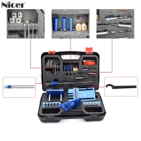 08400 Upgraded Dowelling Jig Set High Precision Woodworking Tool Drill Guide DIY Hole Drilling Locator Tool Kit