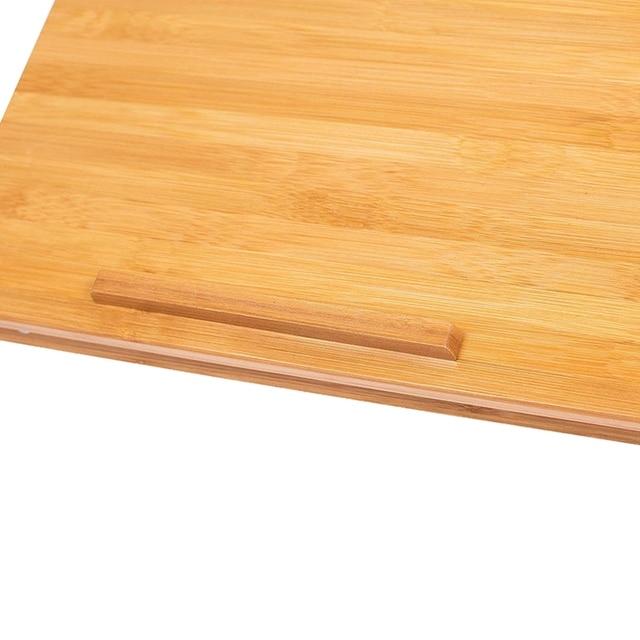 Plateau multifonctionnel de Sofa de plateau de lit de petit déjeuner de bureau de tour avec les jambes pliables-couleur naturelle de rondin