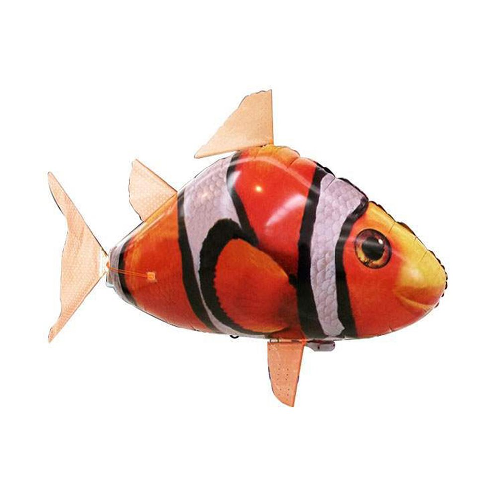 The Remote Controlled Fish Blimp Suspension Flying Shark Toy Remote Control Inflatable Flying Fish Hs Clown Fish