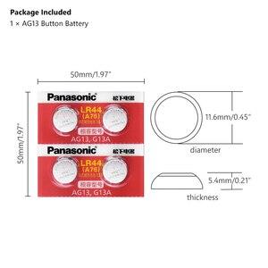 Image 2 - Panasonic 4pcs 1.5V אבץ AG13 LR 44 LR44 כפתור לחצן שעון שעון לייזר מצביע בקנה מידה סוללות GP76 GPA76 L1154 SR44 SR44W