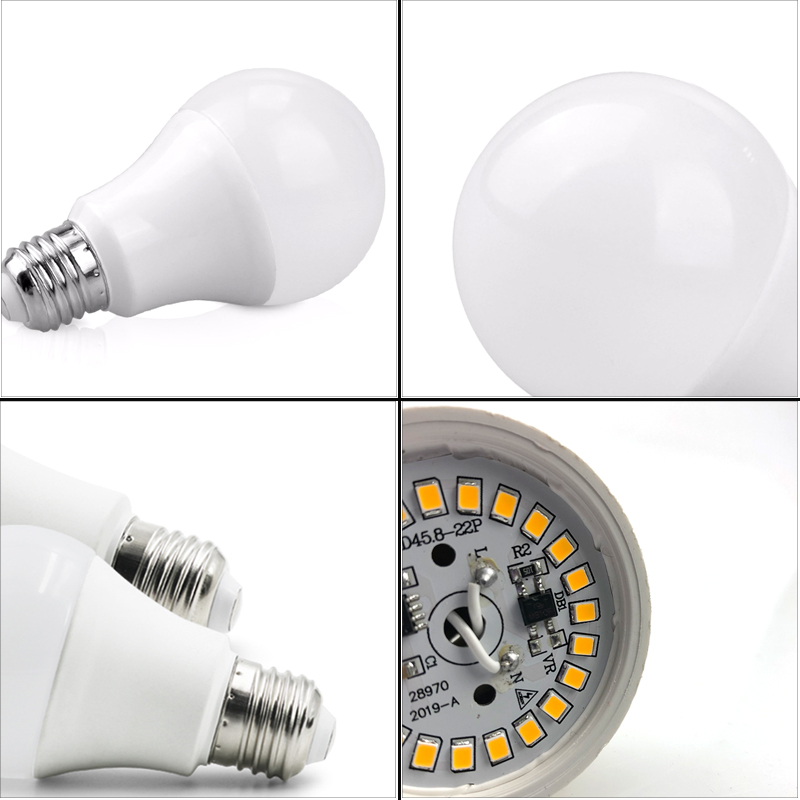 Image 2 - 6pcs/lot Lampada LED Lamp E27 E14 Light Bulb 3W 6W 9W 12W 15W 18W 20W 220V Cold White Warm White Livingroom Indoor Lighting-in LED Bulbs & Tubes from Lights & Lighting