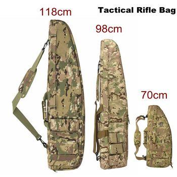 118 cm 98CM de Nylon de alta densidad Rifle caso bolsa táctico bolso militar Airsoft funda pistola bolsa Rifle accesorios mochila de caza