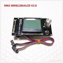 Makerbase MKS MINI12864LCD v2.0 RepRap 12864 GLCD Pantalla de cristal líquido mini lcd12864 controlador de pantalla 3d impresora LCD suministrosAccesorios y partes de impresoras 3D