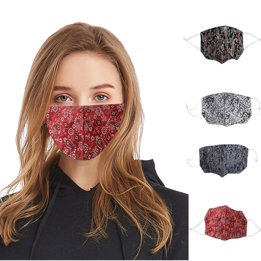 #H30 Cotton Print Mouth Mask Anti Dust Pollution Washable Face Masks Reusable windproof effortless breathable Face Mask