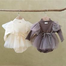Baby Girl Bodysuit Newborn Princess Baby Dress For Girl 1st Birthday Party Wedding Infant Baby Girl Clothes Cotton Baptism Dress