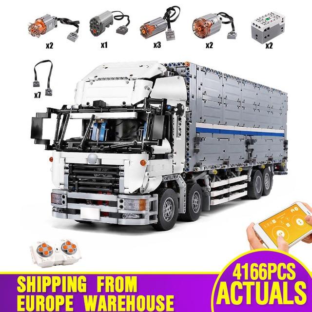 23008 APP بمحركات تكنيك سيارات لعب متوافق مع MOC 1389 الجسم الجناح نماذج من الشاحنات اللبنات الطوب الاطفال هدايا عيد الميلاد