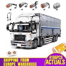 23008 app motorizado técnica carro brinquedos compatíveis com MOC 1389 asa corpo caminhão modelo blocos de construção tijolos crianças presentes natal