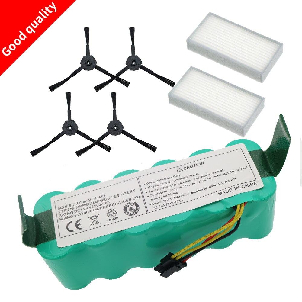 7pcs NI-MH 14.4V High Quality Battery 3500mAh For Panda X500 Battery For Ecovacs Mirror CR120 Vacuum Cleaner For Dibea X500 X580
