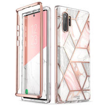 Untuk Samsung GALAXY Catatan 10 Plus (2019) aku-Blason Cosmo Full-Body Glitter Marmer Cover Case Tanpa Built-In Screen Protector(China)
