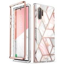 Чехол для Samsung Galaxy Note 10 Plus (2019) i Blason Cosmo полностью блестящий Мраморный чехол без встроенной защитной пленки для экрана