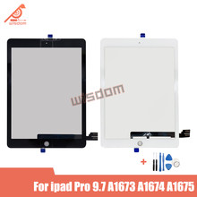 For iPad Pro 9.7 inch A1673 A1674 A1675 Replacement Touch Screen Panel Digitizer 9.7-inch Black White Touchscreen Glass senor(China)