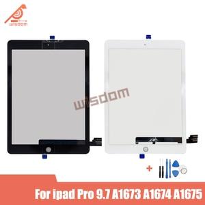 Для iPad Pro 9,7 дюйма A1673 A1674 A1675 сменный сенсорный экран с цифровым преобразователем 9,7 дюйма Черный Белый сенсорный экран стекло senor