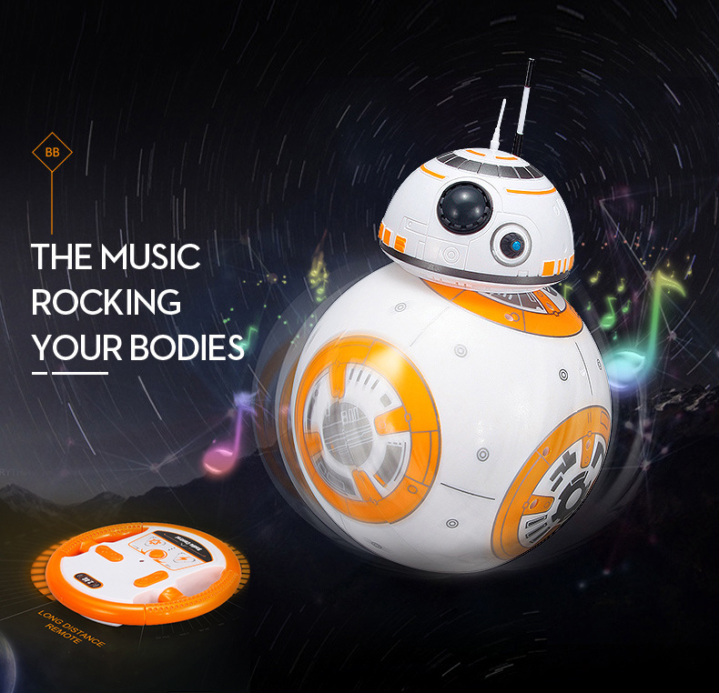 Star War <font><b>Robot</b></font> <font><b>Toys</b></font> Intelligent Upgrade RC <font><b>BB8</b></font> With Sound Action Figure Gift BB-8 Ball <font><b>Robot</b></font> 2.4G Remote Control <font><b>Toys</b></font> For Child image