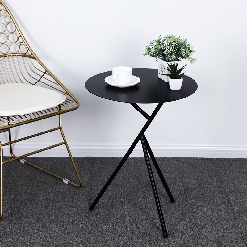 Nordic simple home iron Round tea table Coffee tables in restaurants living room furniture modern