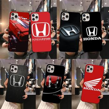 Honda car logo Soft Phone Case Cover for iPhone 11 pro XS MAX 8 7 6 6S Plus X 5S SE 2020 XR case image
